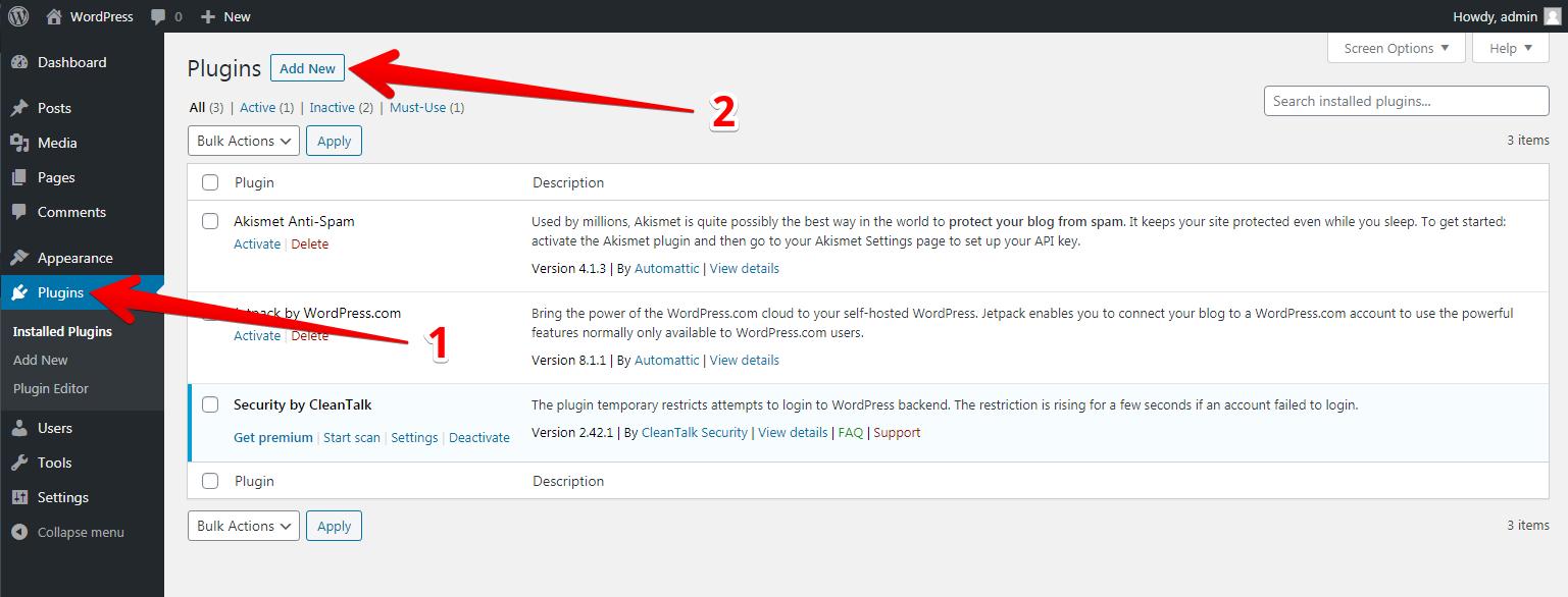 WordPress Anti-Spam plugin install