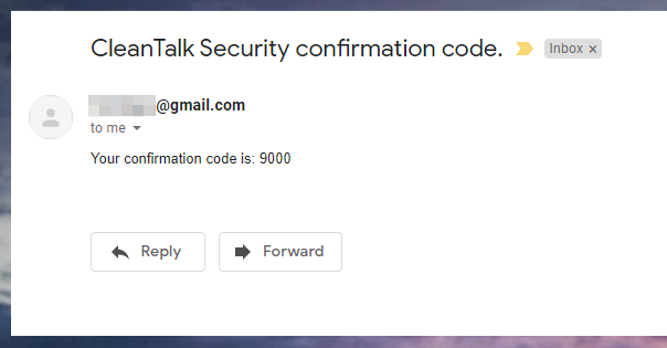 Security by CleanTalk confirmation code email