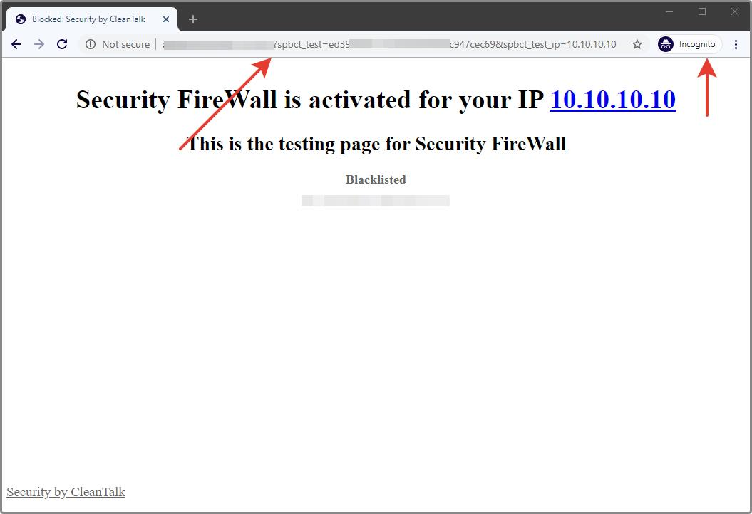 Security Firewall block page