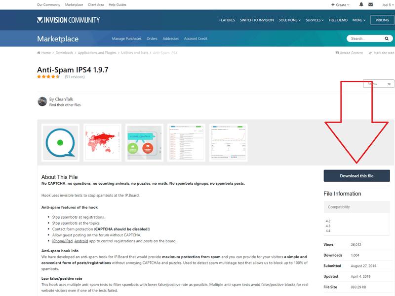 IPS4 anti-spam install