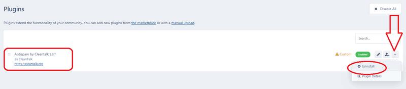 IPS4 anti-spam uninstall